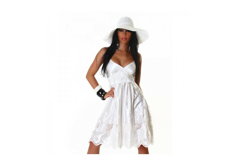 porter une robe blanche